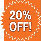 Save 20%!